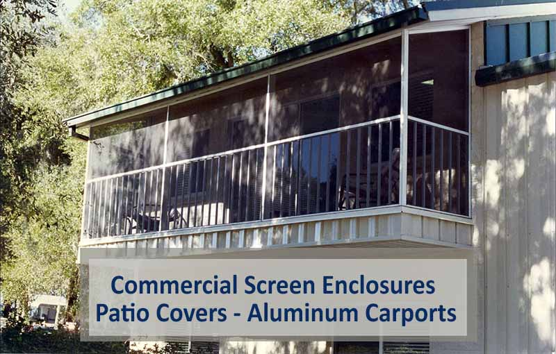 Commercial Screen Enclosures – Patio Covers – Aluminum Carports
