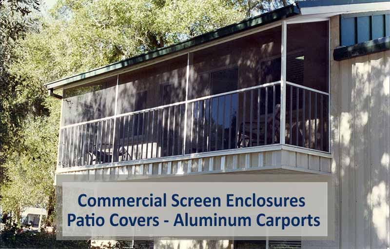 Commercial Screen Enclosures – Patio Covers – Aluminum Carports
